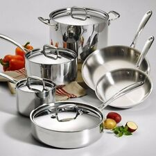 All Clad Cookware Set Stainless Steel Kitchen Tools with Lids Dishwasher Safe