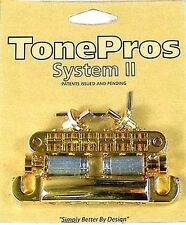 New TonePros Nashville  Bridge/Tailpiece Set LPGM04-GLD GOLD