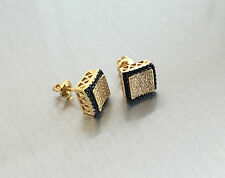 Men's 14K Gold Filled Genuine 0.05 Ct. Lab Diamond Screw Back Stud Earrings