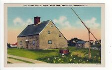 NANTUCKET ISLAND Massachusetts PC Postcard JETHRO COFFIN HOUSE Ack HOME