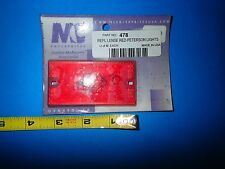 Peterson 478 Red Replacement Lens for Clearance/ Side Marker Light/ Other