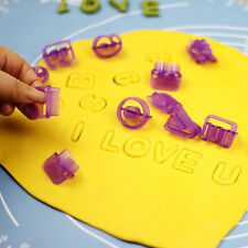 40x Alphabet Number Letter Cookie Cutter Mold Cake Decorating Icing Pastry Mould
