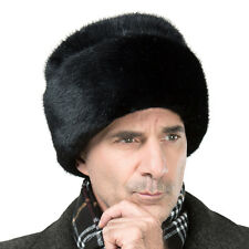 Men's Faux Mink Fur Russian Cossack President Trapper Camping Winter Hat