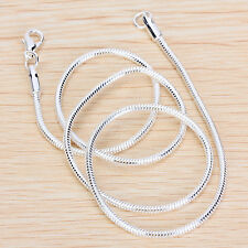 20'' Silver Snake Chain Necklace Lobster Clasp Jewelry Findings Craft DIY