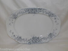 Antique JH Weatherby & Sons Stratford pattern blue gray Oval Platter