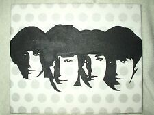 Canvas Painting The Beatles Polkadots B&W Art  12x10 inch Acrylic