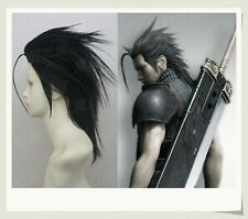 Final Fantasy VII FF7 Zack Fair Black Styled Synthetic Hair Cosplay Wig