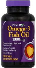 Omega-3 Fish Oil, Natrol, 90 softgels 1000 mg 1 pack