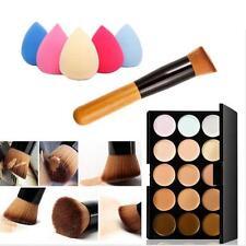 15 Colores Contorno Crema Facial Maquillaje Corrector Paleta+Esponja Puff