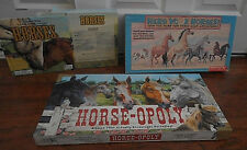 Horse-opoly / Herd your Horses / Horses  Book & Horse Game 3 Board Games