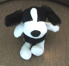 Kinder Surprise Plush Collectible Black & White Puppy with Bandanna New