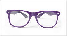 Fashion Cool Mens Womens Square Clear UV400 Lens Glasses Vintage Nerd Glasses