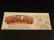 """TIMES SQUARE New York City """"CINEMA RIDE IN 3-D"""" Ticket Stub 1990's NYC  souvenir"""