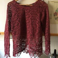 Zara Lace Top With Gold Buttons Size Medium Sold Out