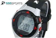 SSG Red Grey Black Excercise Pulse Heart Monitor Wrist Watch Calorie Counter