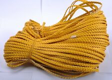 2M yellow Man-made Leather Braid Rope Hemp Cord For Necklace Bracelet