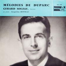 MELODIE DE DUPARC Gerard Souzay Jacqueline Bonneau FR Press Decca ACL 909 LP