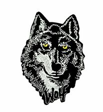 Patch toppe toppa ricamate termoadesiva biker lupo wolf backpack