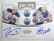 11-12  PANINI CONTENDERS,NHL INK DUALS AUTO,TAYLOR HALL & RYAN NUGENT- HOPKINS