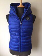 Napapijri gilet matelassé/gilet/veste sans manches, bleu, taille s rrp £ 130