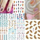 Feather 3D Nail Water Transfer Stickers Tips Decals Women Nail Art Accessories