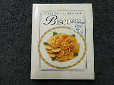 CREATIVE RECIPES FOR BISCUITS - SMALL HARD COVER BOOK =