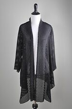CHICO'S Travelers Collection $99 Semi Sheer Asymmetric Jacket Top Size 1 Medium