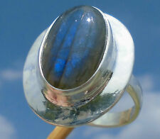 Labradorit Ring Gr. 18,75 Silber 925