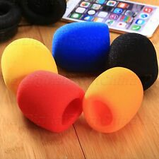 5Pcs Handheld Microphone Windshield Windscreen Soft Sponge Foam Mic Covers