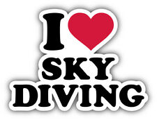 I Love Sky Diving Car Bumper Sticker Decal 5'' x 4''
