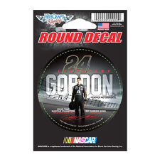 "2015 JEFF GORDON #24 LEGENDARY NASCAR 4 TIME CHAMPION 3""ROUND STICKER DECAL"