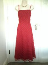Phase Eight Red 50' Cocktail Party Corset Midi Prom Evening Dress Size 10-12