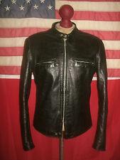 Superb Vintage  BROOKS  J-100  Cafe Racer Motorcycle Leather Jacket . Size 42