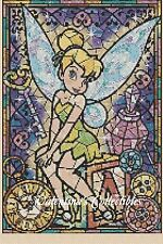 Counted Cross Stitch TINKERBELL Stained Glass - COMPLETE KIT #30vc-4 KIT