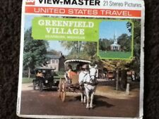 GREENFIELD VILLAGE Dearborn, Michigan - 3 viewmaster reels with booklet