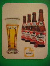 Belgian Beer Bar Coaster ~ Brouwerij Anglo Belge Pils; Zulte, BELGIUM; 1891-1989