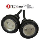 Jtech 2x 9W Red Color Eagle Eye Back Up Reverse Daytime Running Light Lamp Bulb