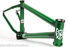 "S&M Bikes ATF 24"" BMX Cruiser FRAME in TRANS GREEN 21.75"" TT Made in USA subrosa"