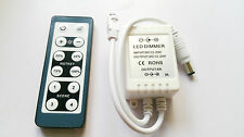 LED Dimmer 12V-24V 6A IR Smart Remote Controller Adjust Single Color 3528 5630