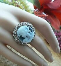 Cameo Adjustable Ring Gift for her Womens Girls Unusual Kitsch Retro Classics