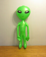 "1 NEW INFLATABLE GREEN ALIEN 36"" BLOW UP INFLATE ALIENS HALLOWEEN PROP GAG GIFT"