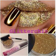 Glitter Lips Gold Lipstick Loose Glitter by GlitterChic, Extra Glam, 10g Pot