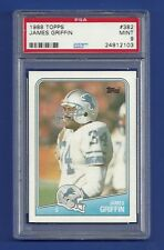 1988 TOPPS #382 JAMES GRIFFIN PSA 9 MINT POP 4 DETROIT LIONS MIDDLE TENNESSEE ST