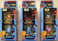 Digimon Adventure (6 FIGURES) Toy Figure YUTAKA 1999 JAPAN Set #1,2,3 RARE ITEM!