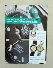 E126 - Advertising Pubblicità -1987- TAG HEUER SERIE EXECUTIVE