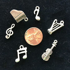 SIX Different MUSIC CHARMS -  Very Special! Violin, Piano, Harp, more!