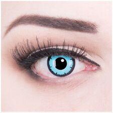Lenti a contatto colorate occhi azzurri Angelo Halloween + contenitore GRATIS