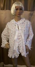 Sissy Adult Baby Soft Warm Cotton Bed Jacket and Panties