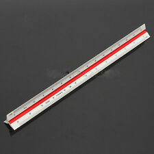 Rulex 30cm metric triangular architects scale ruler with 6 different scales
