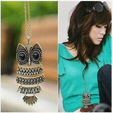Exquisite retro owl necklace
